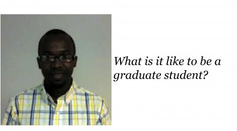 NANOBIO REU SEMINAR SERIES – Ousman Mahmud ON graduate student career